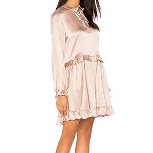 NWT Frill Silk Dress in Rose Anine Bing